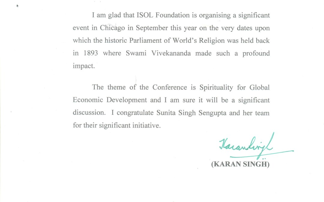 Dr Karan Singh encouragements