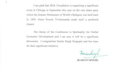 Dr Karan Singh encouragements